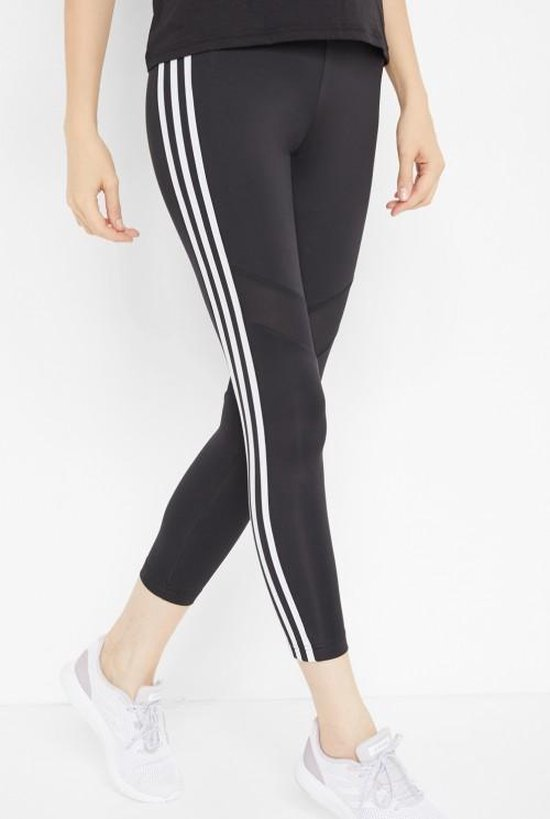 Adidas Dames Tight 7/8- Zwart/Wit- Maat S
