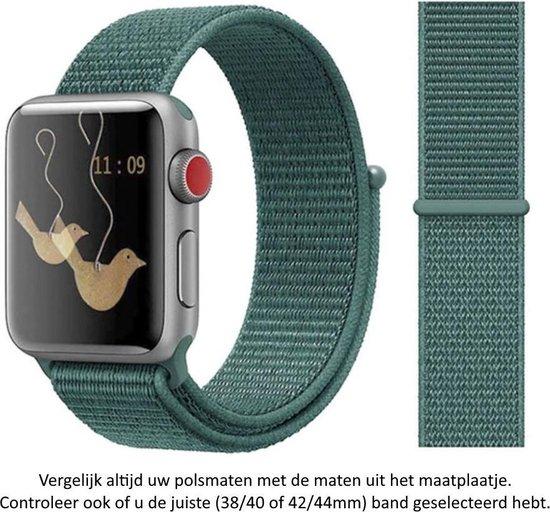 Dennen Groen Nylon sporthorloge Band Geschikt voor Apple Watch 1, 2, 3, 4, 5,...