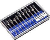 LUWANZ Rasp Set, 10 Stuks Bramen 3 mm Schacht Bit Voor Hout Metaal Marmer Carving, Slijpen, Polijsten, Graveren Etc, Boorgereedschap, Geschikt Voor Boren, Multifunctioneel Gereedschap (Zilver)
