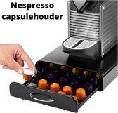 Capsulehouder met lade geschikt voor o.a. Nespresso capsules - Espresso Koffie Pad en Cups Houder - Geschikt voor 50 capsules