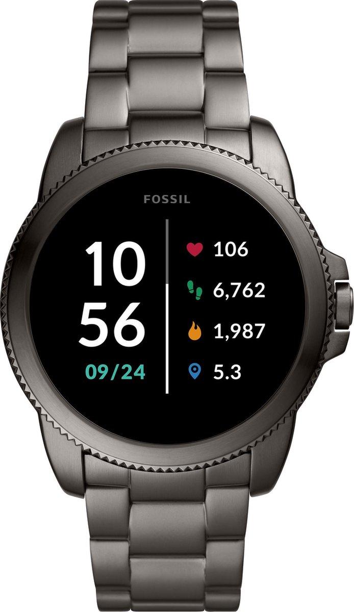 Fossil Gen 5E FTW4049 Heren Smartwatch - 44 mm - Grijs