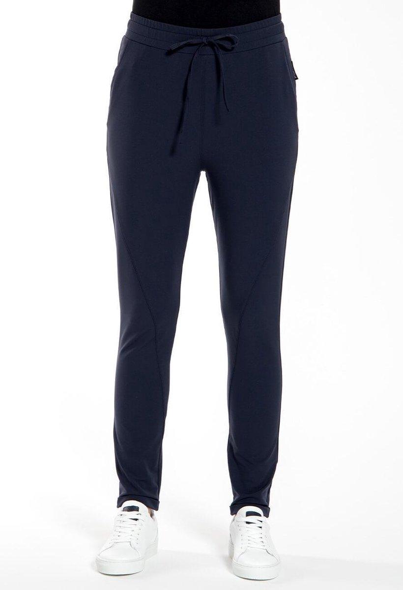 Blauwe Broek/Pantalon van Je m'appelle - Dames - Travelstof - Maat XS - 3 maten beschikbaar