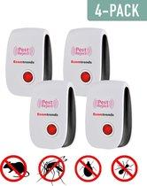 Ultrasone Ongedierte Verjager - 4 pack - Bestrijding van Muizen, Ratten, Insecten - Met Ultrasone Ongediertebestrijding - Muizenverjager - Rattenverjager