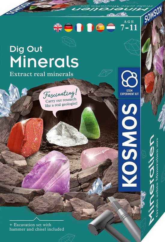Kosmos Experimenteerset Dig Out Minerals 10-delig