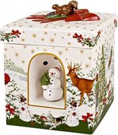 Villeroy & Boch Christmas Toys Muziekdoos Waxinelichthouder Sneeuwpop 21 cm