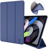 iPad Air 2020 Hoes - iPad Air 4 10.9 inch (2020) Hoes - Smart Book Case Hoesje - Blauw