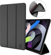 iPad Air 2020 Hoes - iPad Air 4 10.9 inch (2020) Hoes - Smart Book Case Hoesje - Zwart