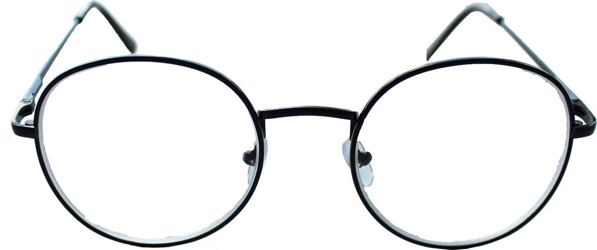 Oculaire | Johann| Zwart| Min-bril | -2,00 | Rond | kopen