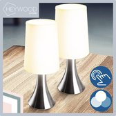 Heywood Living Tafellamp – Dimbaar met Touch Functie – Bureaulamp/Tafellamp/ Slaapkamer Lamp