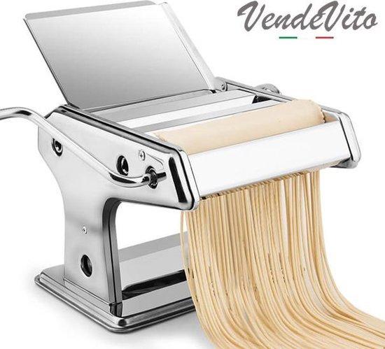 VendeVito Taglio Pastamachine - 150MM - RVS - Pasta Maker - Pasta Machine - Sinterklaas Cadeau + 3 Gratis Raviolimakers