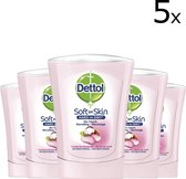 Dettol No-Touch Wasgel Navulling Voedende Sheabutter - 5 x 250 ml - Handzeep - Voordeelverpakking