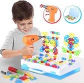 WithGoods® Creatieve 3D Puzzel Met Werkende Boormachine En Gereedschapskoffer - Educatief Speelgoed Vanaf 3 Jaar