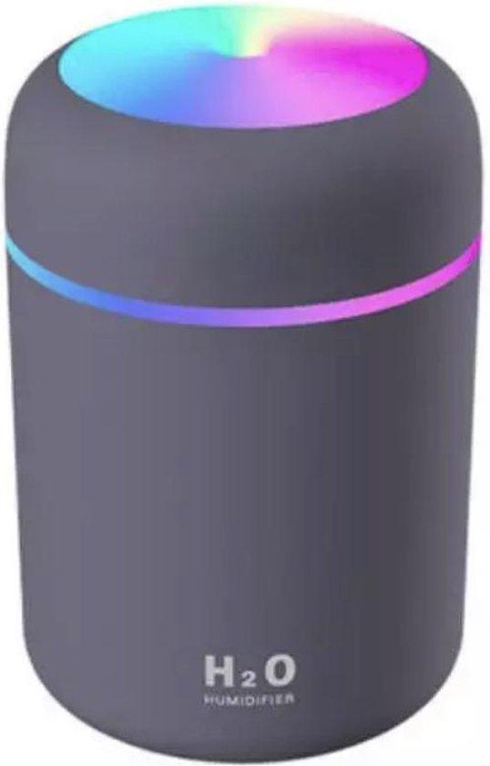 Aroma diffuser 300ML - met Sfeer en nachtlampje - Donker grijs / Zwart