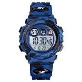 Kinderhorloge – Chronograaf – Waterdicht – Sports Watch Kids – Camouflage Blauw