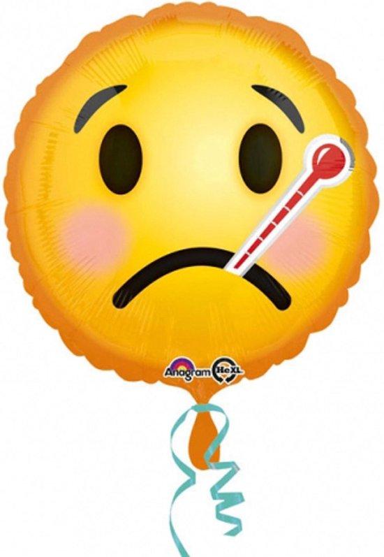 AMSCAN - Zieke emoticon ballon - Decoratie > Decoratie beeldjes