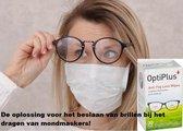 BEST GETEST: Beslagen bril door dragen mondmasker? OptiPlus Anti-fog, anticondens doekjes
