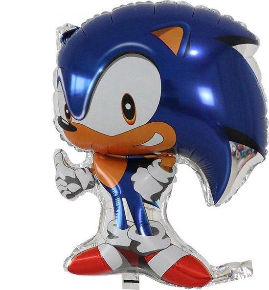 Sonic Ballon - 78 x 48 cm - Ballon Groot - Ballonnen Verjaardag - Sonic the Hedgehog - Sonic - Helium - Ballonnen - Ballon Film