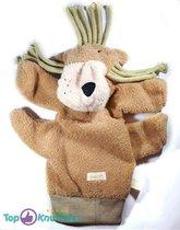 Difrax Hond Handpop / Doekje 25 cm + Pluche Knuffel Vingerpop (10 cm)