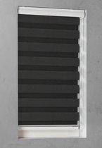 Op Maat Gemaakt Duorolgordijn Zwart 84x240