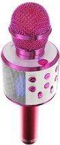 Draadloze Karaoke Microfoon met Speaker en Bluetooth - Roze