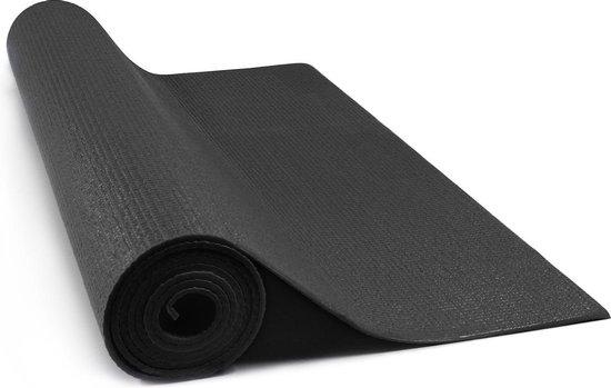 JAP Sports - Yogamat - Anti slip sportmat - Zacht en licht - Fitness, workout, pilates etc. - Yoga mat ook voor thuis - 4mm - Zwart