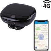 Huisdier GPS Tracker Oplaadbaar - Hond - Kat - Kind - Track & Trace Volgsysteem via 4G - Zwart