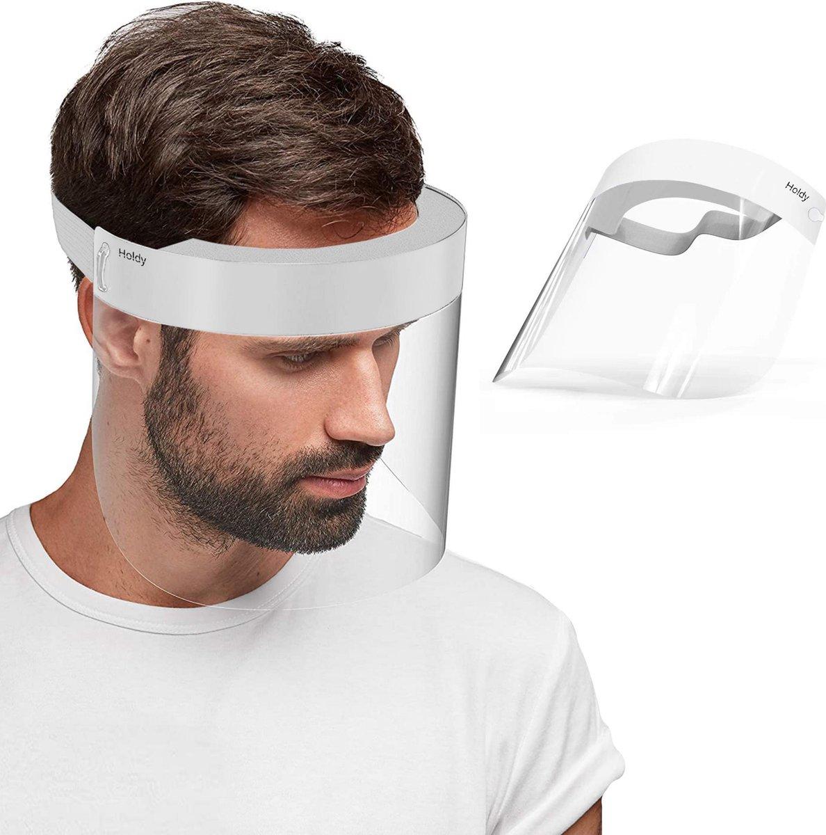 Spatmasker - Face Shield - Gezichtscherm - Face Mask - Spatscherm - Gelaatscherm - 1 stuks
