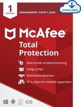McAfee Total Protection - 12 maanden/1 apparaat -