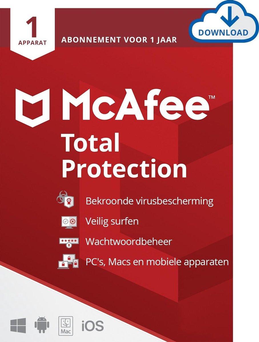 McAfee Total Protection - 12 maanden/1 apparaat - Nederlands - PC/Mac Download