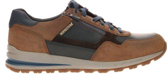 Mephisto Bradley Sneakers Hazelnoot Blauw 44.5