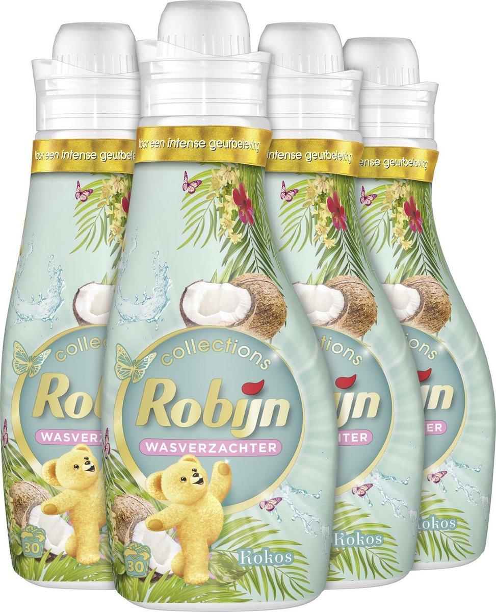 Robijn Kokos Sensation Wasverzachter - 4 x 30 wasbeurten - Voordeelverpakking