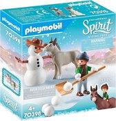 PLAYMOBIL Spirit Sneeuwpret met Snips & Meneer Carrots - 70398