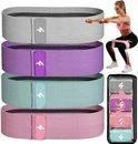 SWILIX ® Resistance band - weerstandsbanden - Booty Band -  Fitness Elastieken Voor Benen en Billen - Fitness Banden - Set van 4