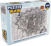 Puzzel 500 stukjes Historische stadskaarten - Historische zwart witte stadskaart van Groningen  - PuzzleWow heeft +100000 puzzels