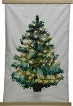 Wandkleed Kerstboom - 38 LED - 75x112cm - Aquarel