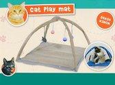 KATTENSPEELTJES en KATTENMAND in 1 - Kattenspeelgoed - krabpaal - kattenspeeltjes intelligentie - kattenhengel - kitten - dier - huisdier