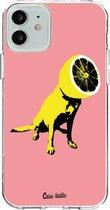 Apple iPhone 12 / iPhone 12 Pro hoesje Lemon Dog Casetastic Smartphone Hoesje softcover case