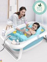 Simple Lifestyle® Babybad opvouwbaar Thermobad met ingebouwde thermometer en Gratis baby badkussen - Douchkophouder -  Inklapbaar BPA vrij badkuip - Leeftijd 0-12 maanden