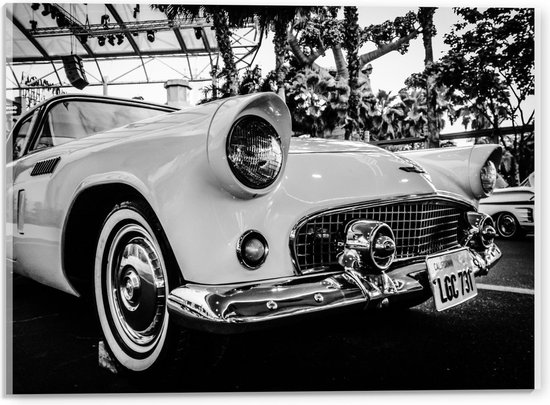 Bol Com Plexiglas Oude Auto Zwart Wit 40x30cm Foto Op Plexiglas Met Ophangsysteem