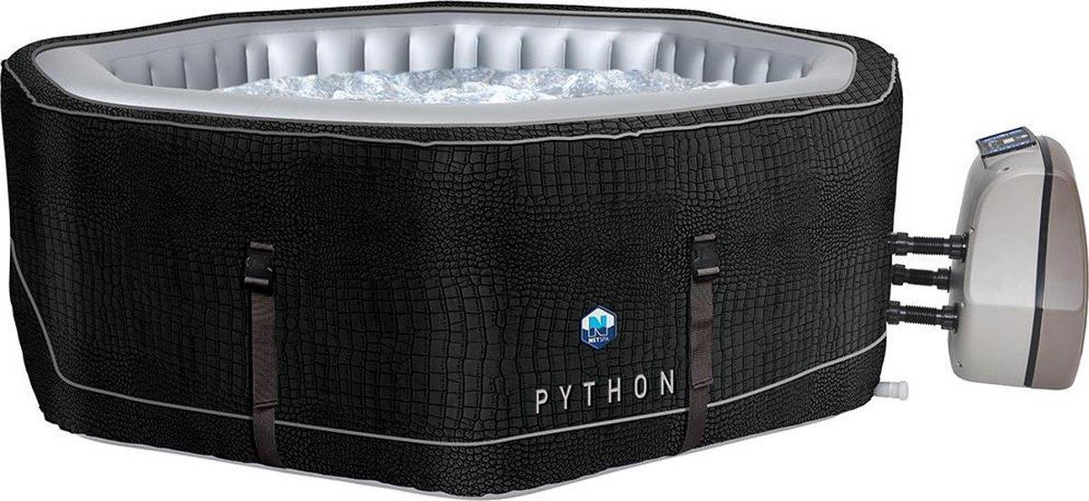 NetSpa Python-Opblaasbare Jacuzzi- 5 Persoons-185 x 185 x 70 cm-massage / verwarming / filtratie