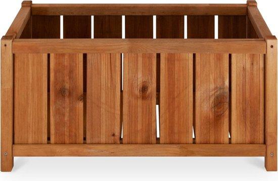 Hirondelle rechthoekige houten bloembak, 75 x 35 cm, 54 L - autoclaaf grenen bloempot
