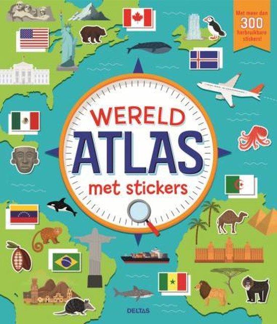 Afbeelding van wereldatlas met stickers speelgoed