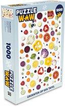 Puzzel 1000 stukjes volwassenen Flat Lay Eten 1000 stukjes - Groenten op een tafel  - PuzzleWow heeft +100000 puzzels