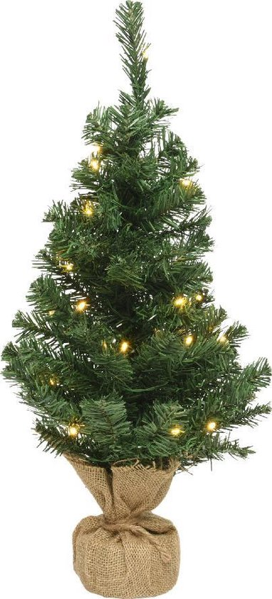Everlands Mini Kerstboom, 90 cm, 50 LED