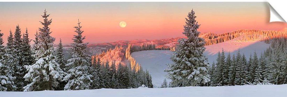 Kerstdorp achtergrond - 60x180 cm - pvc - kerstversiering - kerst poster - winter poster kopen