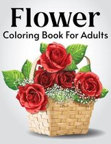 Flower Coloring Book For Adults