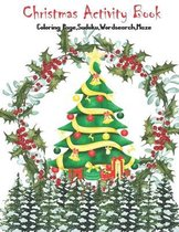 Christmas Activity Book Coloring Page, Sudoku, Wordsearch, Maze