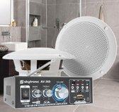 SkyTronic BS06 Badkamer speakerset 6.5 met versterker en 10 meter speakerkabel