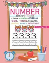 Number Tracing Book for Kids Ages 3-5