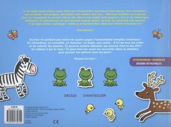 kleur- en stickerboek color & sticker fun: lieve dieren